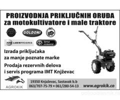 AGROKIK - prikljucci za motokultivatore